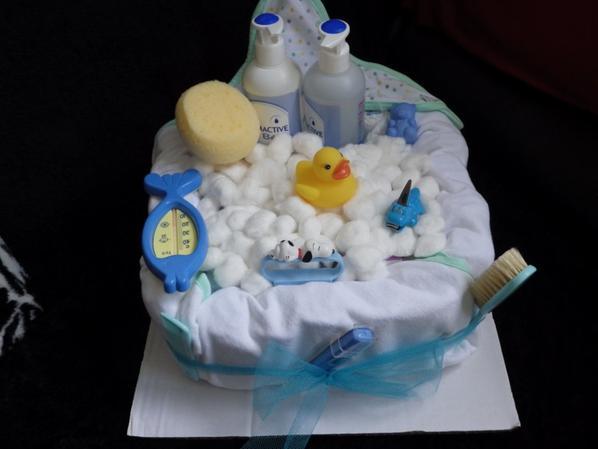 gâteau de couches bain