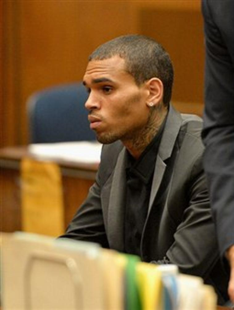 Chris Brown au tribunal ce Lundi