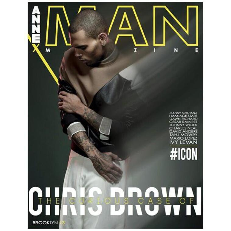 Chris en cover d'Annex Man Magazine