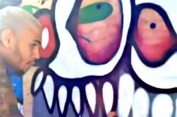 Art de Chris lors du Xmas Toy Drive de Los Angeles ce dimanche