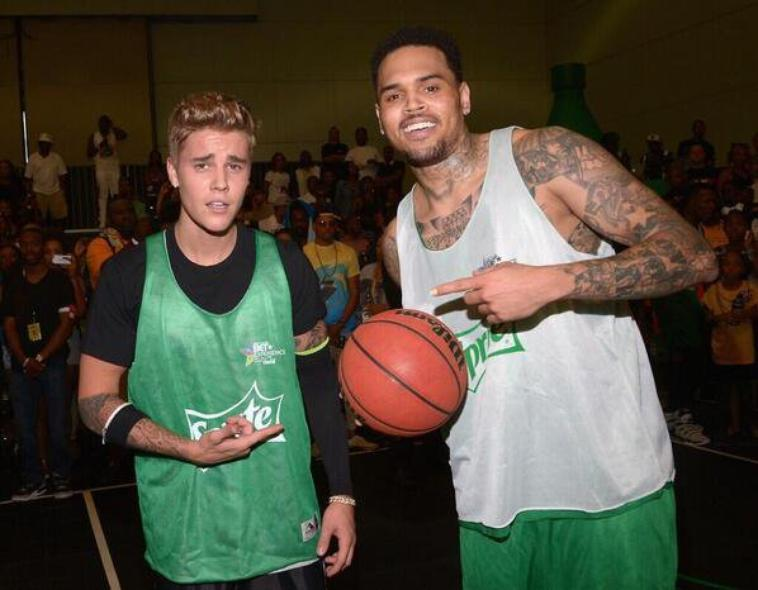 Chris au BET Celebrity Basket-Ball Game