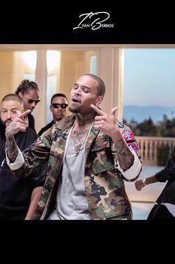 Sur le tournage du nouveau Dj Khaled feat. Chris Brown, Future et August Alsina