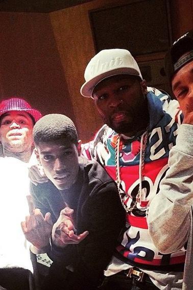 Photos : Studio avec Tyga et 50 Cent