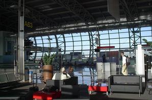 Brussels Airport et dans l'avion