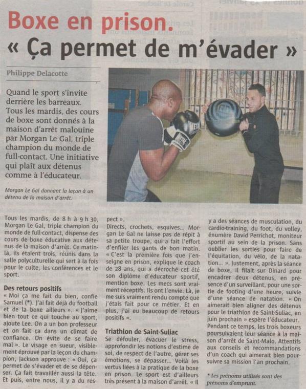 La boxe en prison