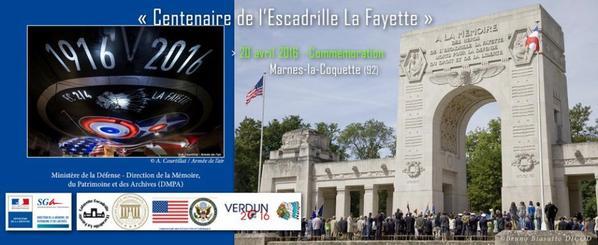 Le 20 avril 2016 au Mémorial de l'Escadrille Lafayette à Marnes-la-Coquette