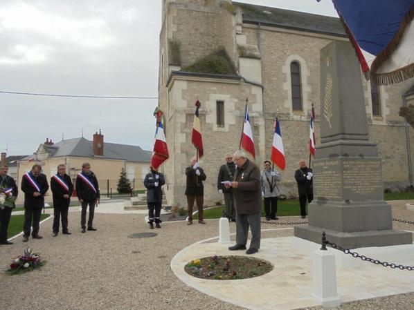 Hommage aux Morts pour la France pendant la guerre d'Algérie et les combats du Maroc et de la Tunisie à BUCY SAINT LIPHARD