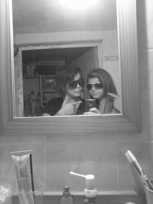 Délire photo avec la cousine ♥