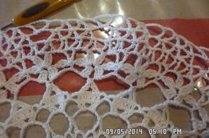 napperon avec bordure au crochet