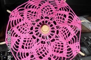 ombrelle de 10cm couleur fuschisa