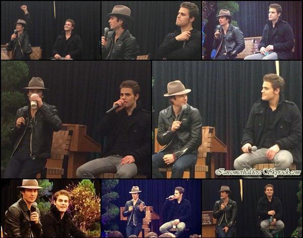 Ian,Paul était a une convention à Orlando ce 12 décembre et c'est Arielle Kebbel qui faisait l'hôte.