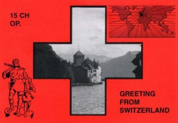 Qsl de la division 15: Suisse