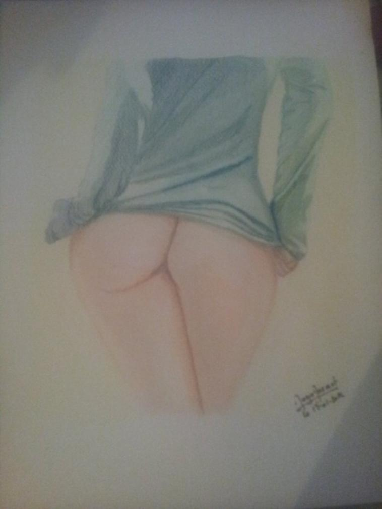 bottom less - pastel vs aquarelle+crayon