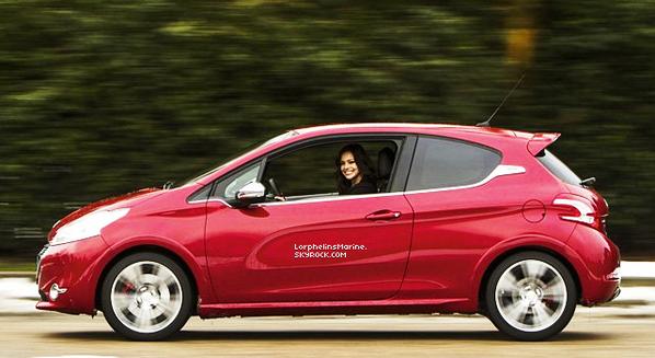 Peugeot a invité Marine Lorphelin a prendre le volant de la dernière petite sportive de la Marque au Lion !