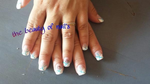 """mes ongles fais par ma cousine """"the beauty of nails"""