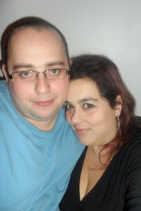 mon homme et moi pour le reveillon de noel jtm mon manouche