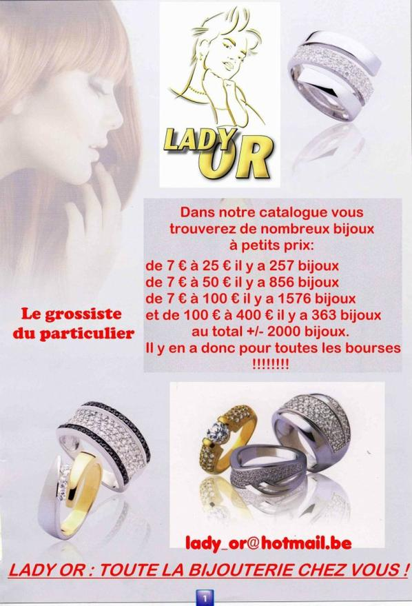 DEMANDEZ NOTRE CATALOGUE BIJOUX ARGENT AVEC 2000 BIJOUX. lady_or@hotmail.be