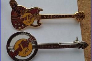 Ma collection de broches guitares Hard rock café