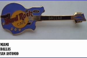 Ma collection de broches guitares Hard rock café