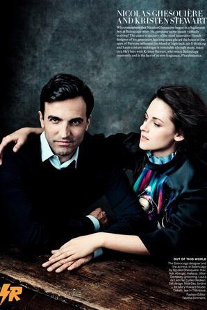 """Kristen Stewart & Nicola Ghesquiere dans le magazine """"Vogue"""" US - Septembre 2012"""