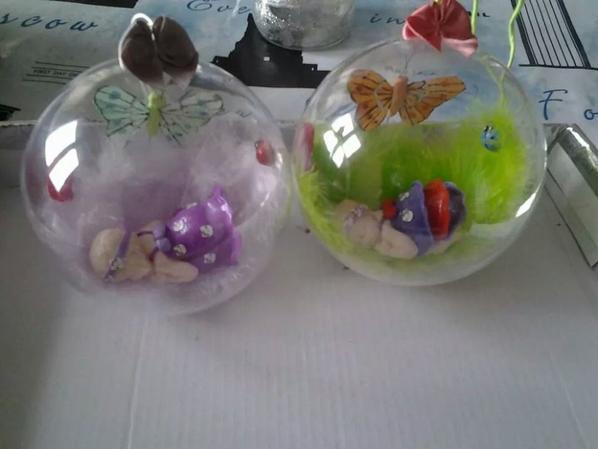 les boules transparente