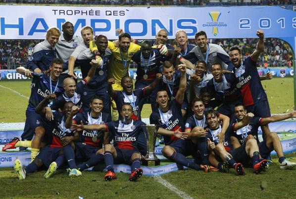 """Trophée des Champions, victoire 2-1 contre Bordeaux. Saivet (23"""") / Ongenda (81"""") et Alex Costa (95"""")"""