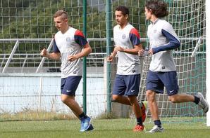 1ere séance d'entrainement pour Cavani, Digne et Marquinhos.