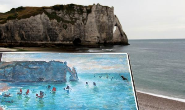 Etretat...Peintre..Monet