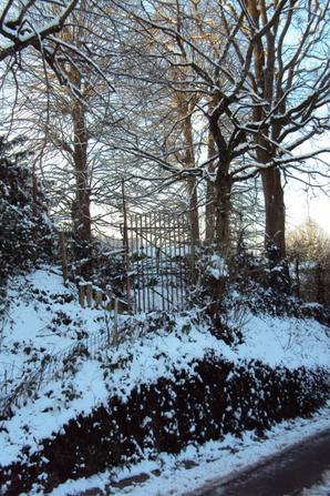 Spa sous la neige