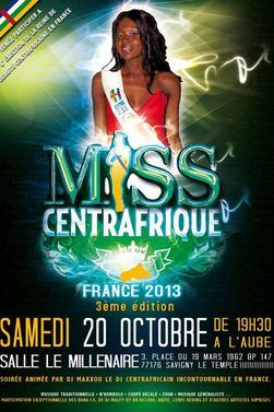 3eme edition de Miss Centrafrique France Samedi 20 octobre 2012