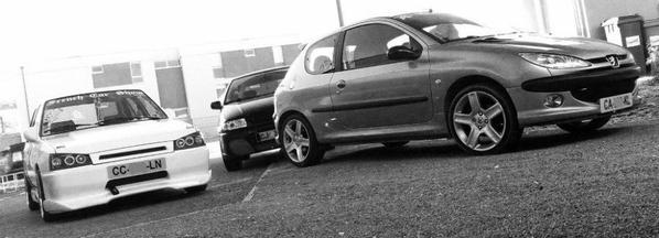 mes 3 voiture réuni