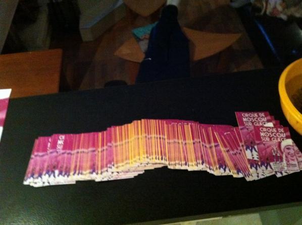 ticket affiche et flyer du cirque de moscou sur glace tout double sauf petite affiche