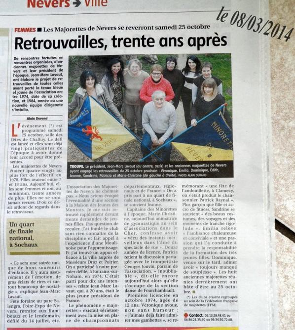 ARTICLE DE PRESSE 08/03/2014