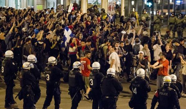 Les manifestations à Montréal