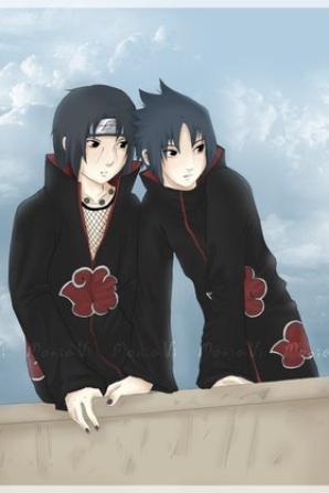 Sasuke et Itachi à l'akatsuki