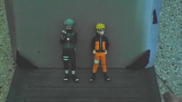 Naruto et Kakashi en figurine