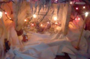 Crèche de Noël en place