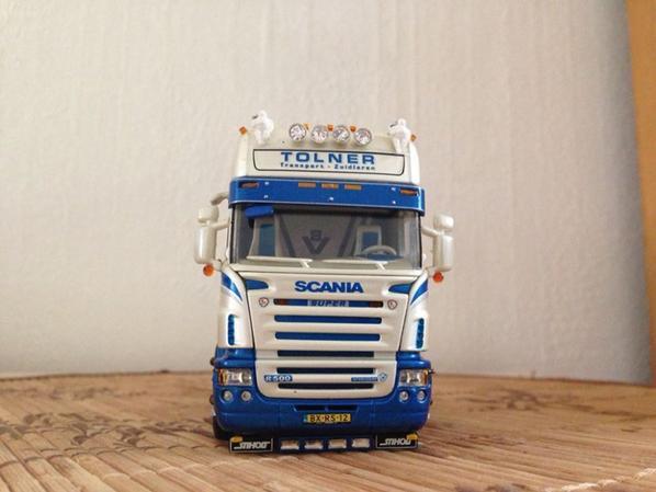 Scania R topline tracteur solo - J.U.R. transport (NL)