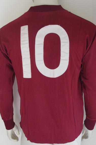 Maillot FC Metz porté par D. Bourgeois en championnat durant la saison 70/71