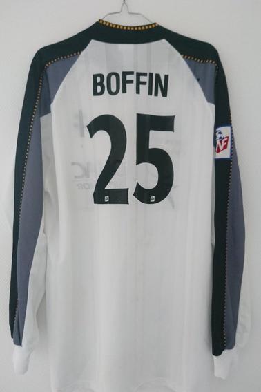 Maillot FC Metz préparé pour D. Boffin pour un match de championnat lors de la saison 97/98