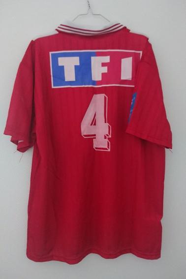 Maillot Nîmes Olympique porté par A. Préget en finale de coupe de France face à Auxerre durant la saison 95/96