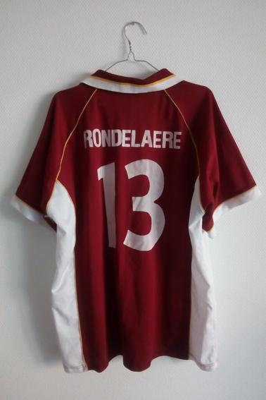 Maillot FC Metz porté par S. Rondelaere en coupe de l'UEFA face à l'Etoile Rouge de Belgrade durant la saison 98/99