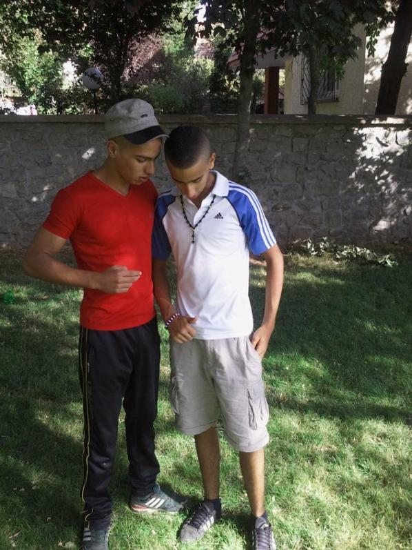 Moi and mon cousin à Ifrane