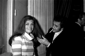 Dalida au festival de Sanremo  en Janvier 1967