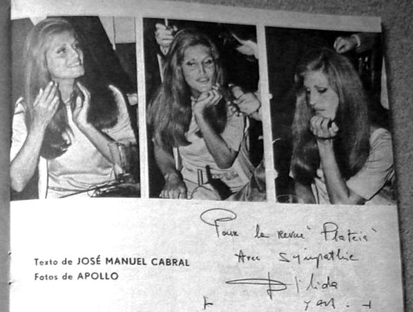 Dalida - Article de presse : Lisboa por um dia (Lisbonne, Portugal) - 1969