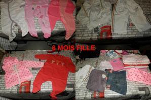 gros lot vêtements 6 mois fille