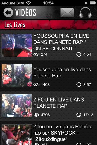 T'as déjà vu les vidéos Live Skyrock sur ton appli Skyrock ?