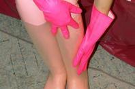 Gants sur mes pied ......