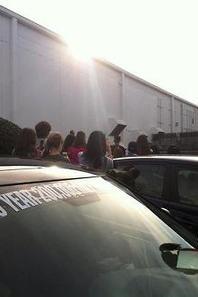 justin bieber avec ses fans dans le zoo d'Atlanta.