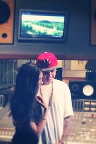 Justin au studio avec Madison Beer+INSTAGRAM.